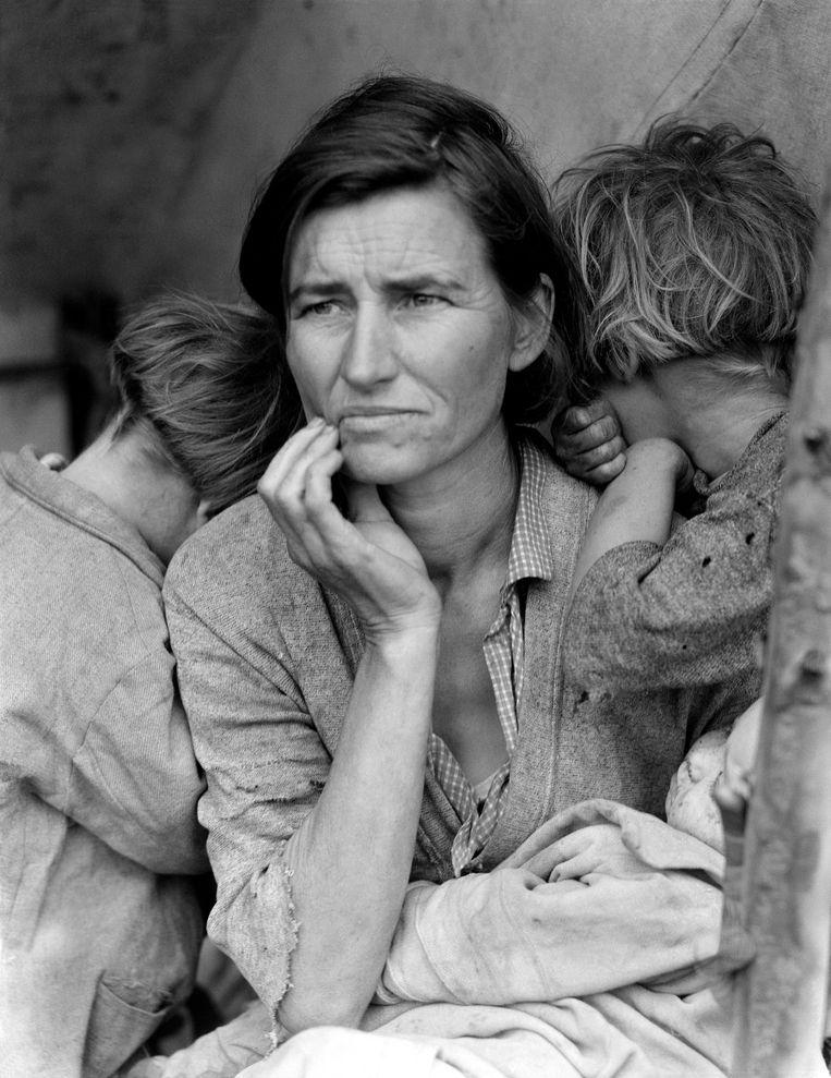 Dorothea Lange: Migrant Mother, 1936.  Beeld Getty