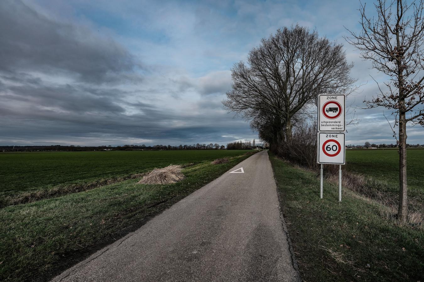 Links de beoogde uitbreidingslocatie van DocksNLD, tussen Azewijn en 's-Heerenberg.