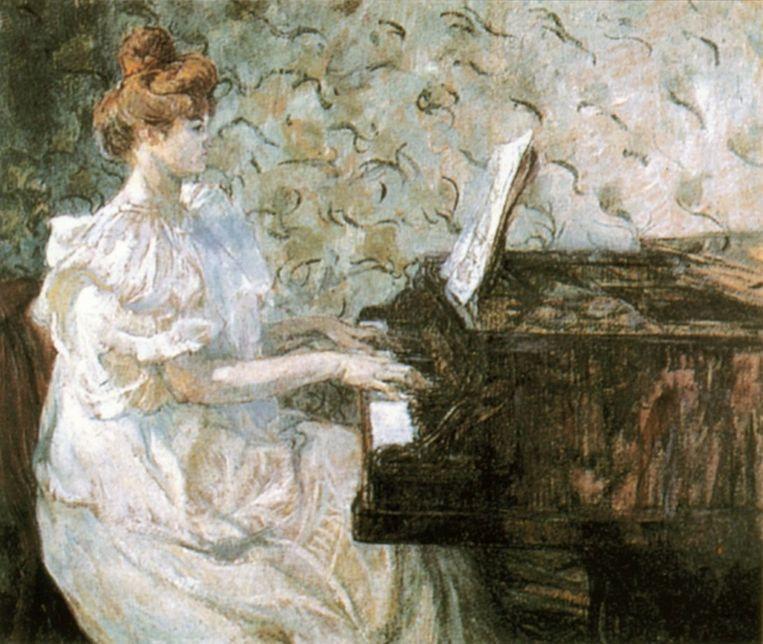 Misia Sert, geschilderd door Henri de Toulouse-Lautrec. Beeld rv