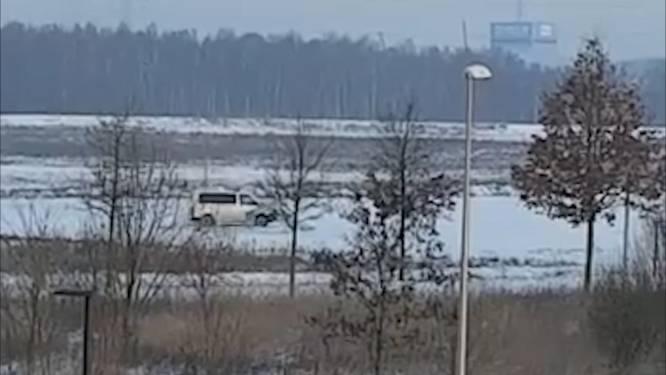 VIDEO. Ook politie Bilzen houdt van driften in de sneeuw