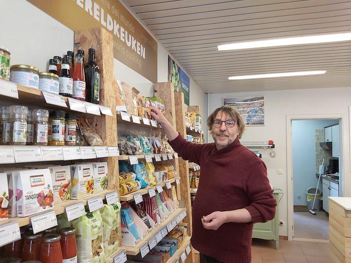 Miel Van de Weyer nieuwe Oxfam Wereldwinkel in Schelle.