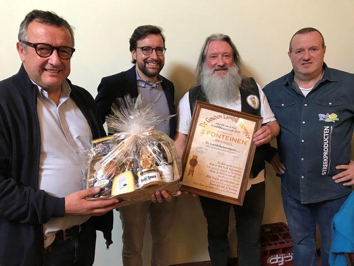 Restaurant 3 Fonteinen in Beersel kreeg van bierproeversvereniging De Lambikstoempers de Gouden Lambikstoemper.