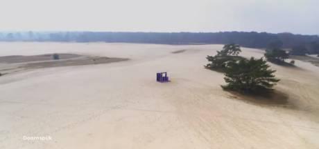 Hoe miljoenen kijkers van Songfestival een promofilm zien voor te drukke zandverstuiving bij Doornspijk