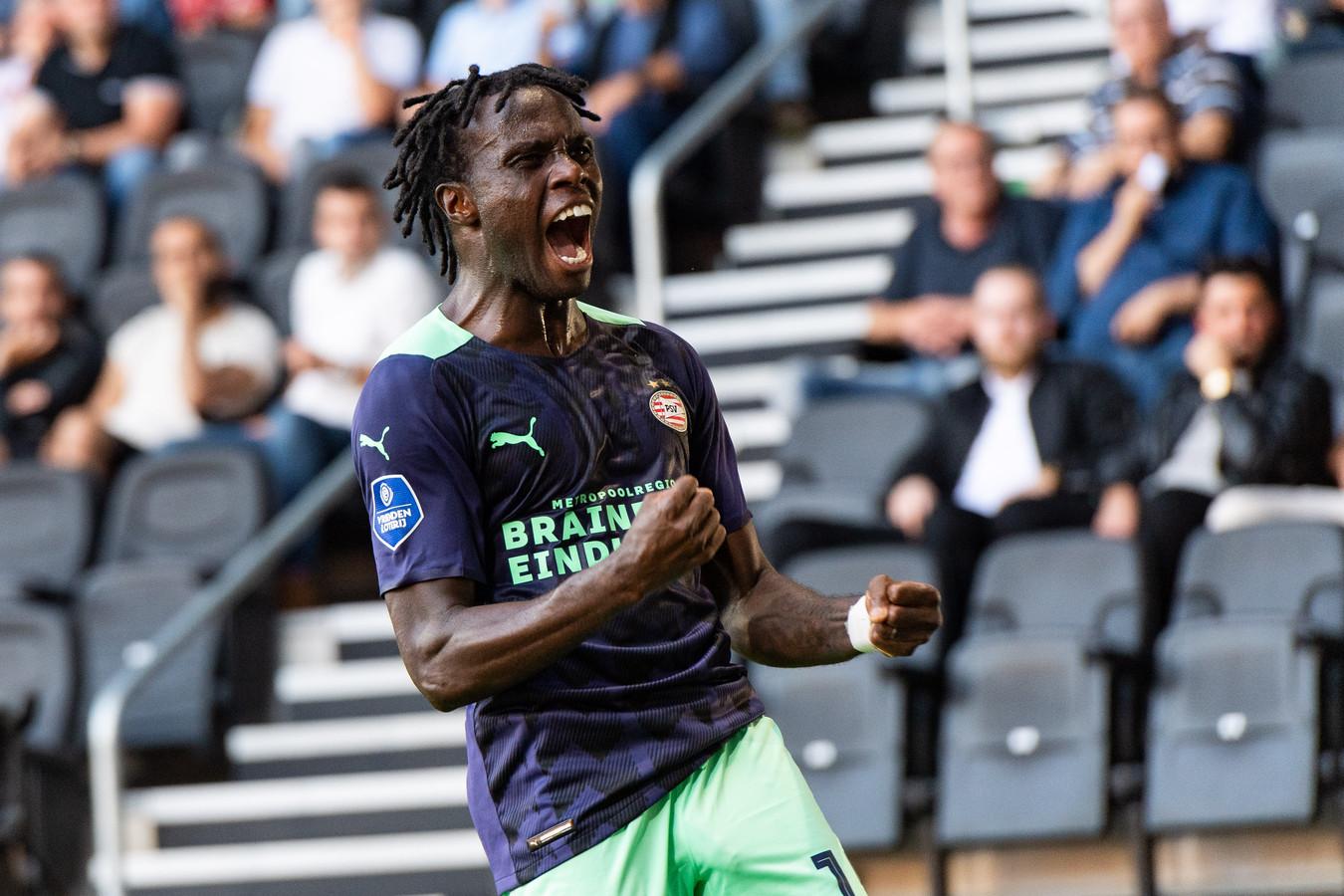 Armindo Bruma is weer happy bij PSV en levert nu ook een bijdrage aan de resultaten, zij het nog veelal als invaller.