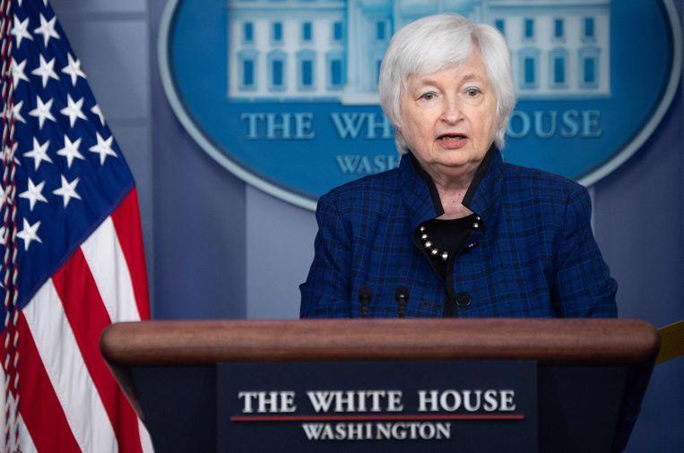 De nieuwe Amerikaanse minister van Financiën, Janet Yellen. Beeld AFP