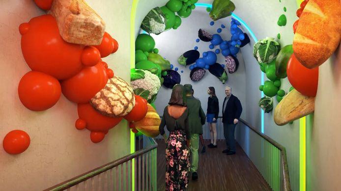 Ontwerp van het World Food Center Experience.