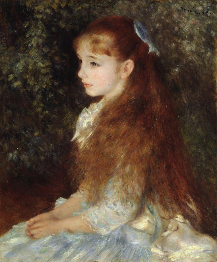 Portret van Irène Cahen d'Anvers door Pierre-Auguste Renoir, 1880.  Beeld Getty