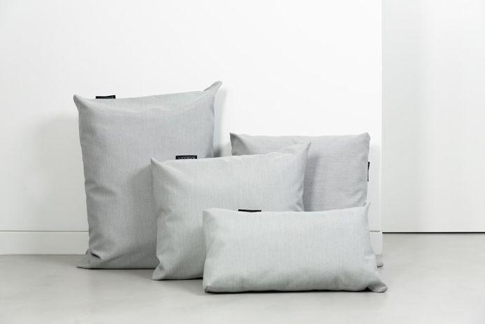 De kussens zijn er in verschillende formaten.