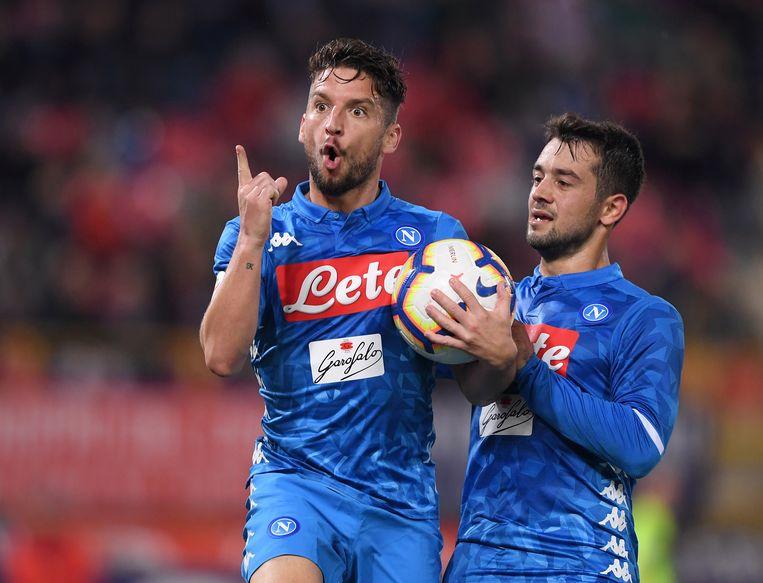 Dries Mertens maakte de 2-2 in Bologna.