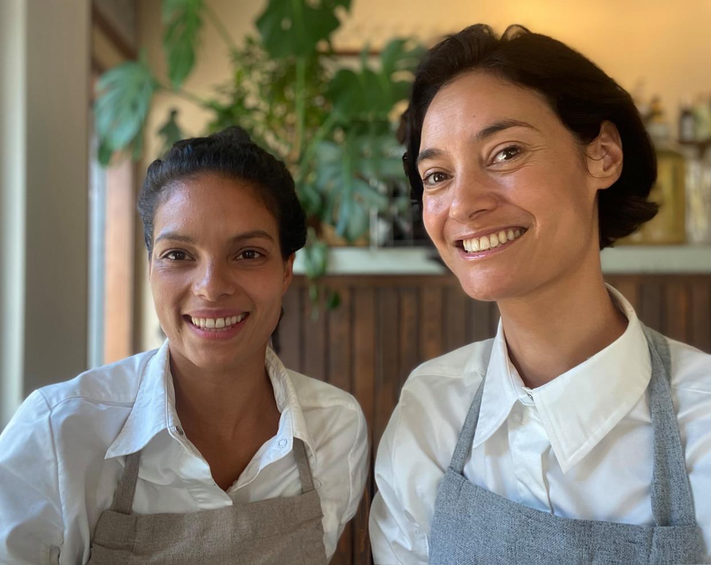 Fareeda van der Marel en Sieta Schellinger van restaurant Sepia. Beeld