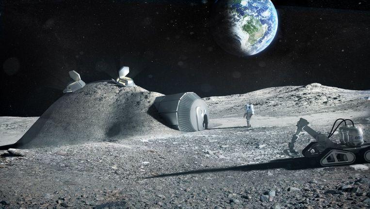 Zo zou de toekomstige maanbasis er kunnen uitzien.