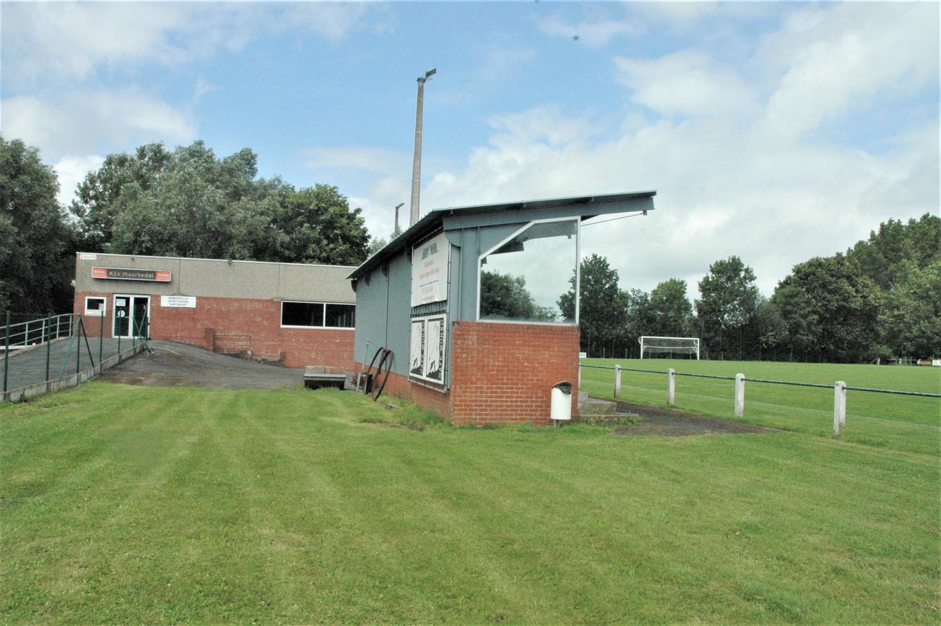 Het voetbalterrein van SV Maarkedal op de Kortekeer. De plannen voor een sportpark blijven voor beroering zorgen.