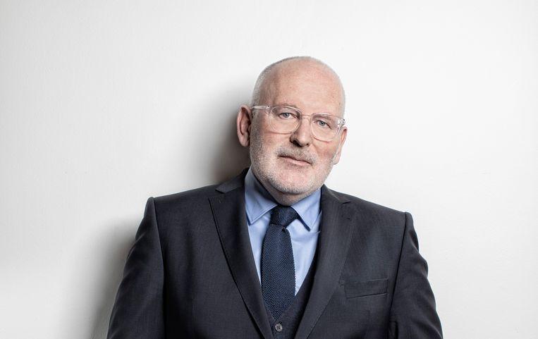 Frans Timmermans, PvdA-lijsttrekker en Spitzenkandidat namens de Europese sociaal-democraten. Beeld Manon van der Zwaal