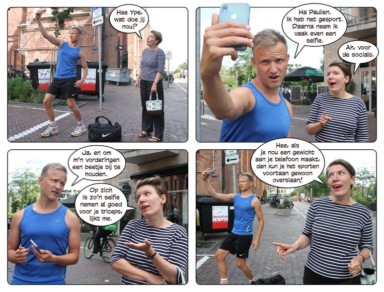 Work-out, 19 september 2020. Beeld Ype