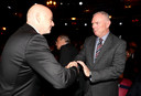 Clarke eerder dit jaar met FIFA-baas Gianni Infantino.