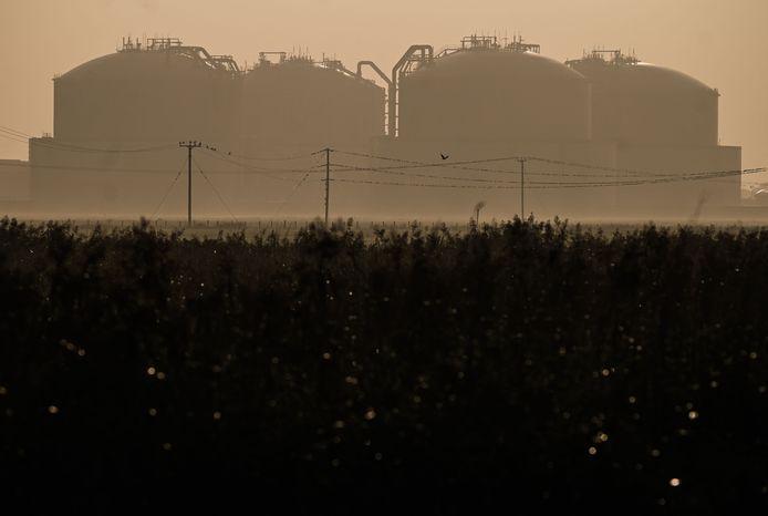 LNG-opslagtanks nabij Grain, Engeland.