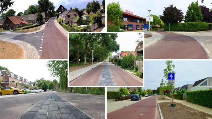 Een collage van de Fietsstraat in IJsselstein