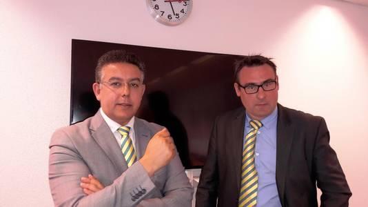 Richard de Mos - rechts - en zijn nieuwe partijgenoot Guernaoui.