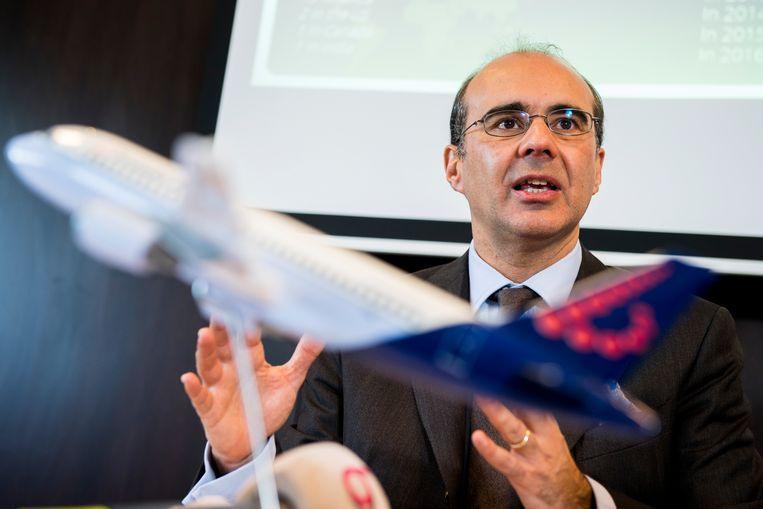 Brussels Airlines CEO Bernard Gustin. Beeld BELGA