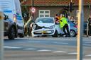 De voertuigen werden naar de kant geduwd om de wegen weer vrij te krijgen.