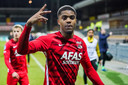 Myron Boadu na de overwinning op VVV-Venlo.
