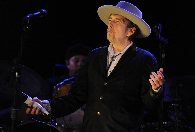 Bob Dylan op een Frans festival in 2012. Beeld AFP