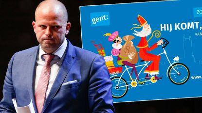 """Francken vaart uit tegen Gentse """"linkse"""" Sinterklaas met blanke Piet en zonder kruis op mijter: """"Politiek-correcte Weg met ons!-santenboetiek"""""""