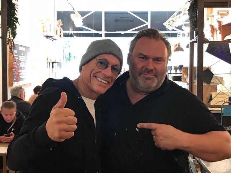 Jean-Claude Van Damme met Sigurd Tanghe in Knokke.