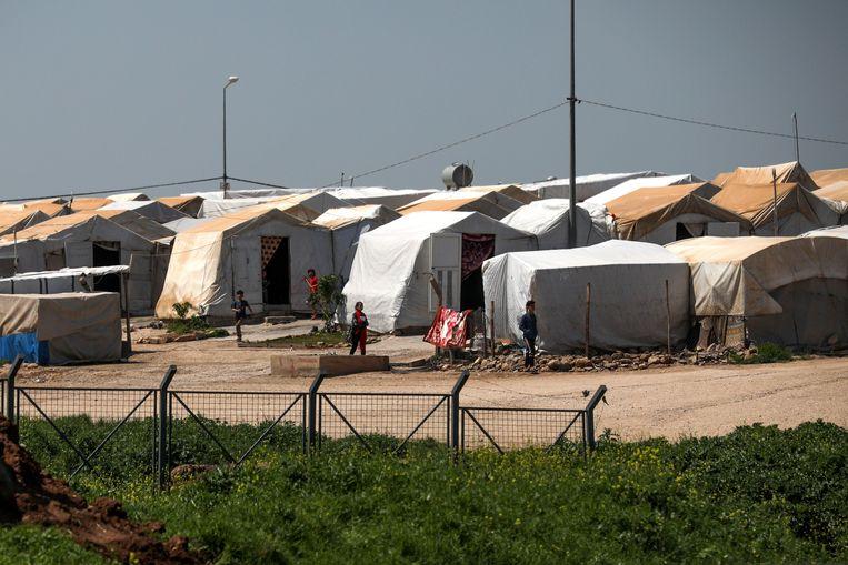 Een kamp voor intern ontheemden in de Koerdische Autonome Regio in Irak.  Beeld Photo News