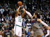 Celtics in laatste seconde langs Thunder