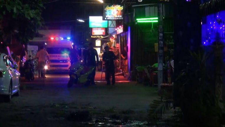 Gisteren ontploften er ook al twee bommen op Hua Hin in Thailand. Beeld AP