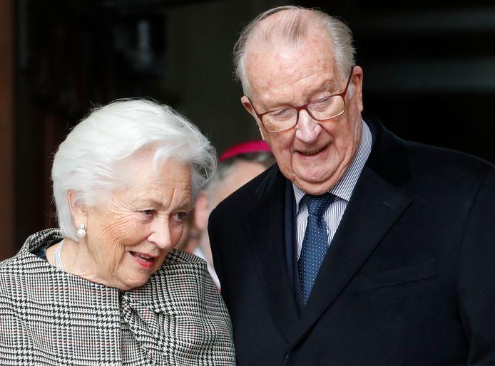De gepensioneerde Belgische koning Albert II en zijn echtgenote Paola