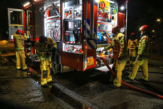 Brand in de caravan in Asten.