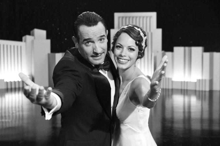 Jean Dujardin als George Valentin (links) en Berenice Bejo als Peppy Miller in The Artist. © AP Beeld