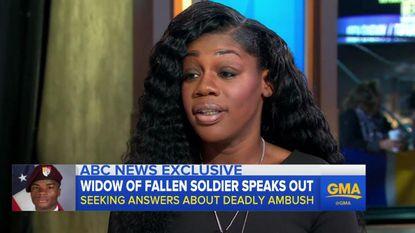 """Weduwe van gesneuvelde soldaat: """"Trump kon niet eens zijn naam onthouden, daardoor moest ik nog meer huilen"""""""