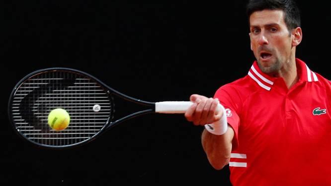 Geen tennis meer in Rome door regen, Tsitsipas en Djokovic vervolgen kwartfinale zaterdag