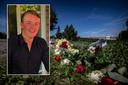 Op de plek van het ongeval in Honselersdijk hebben vrienden bloemen neergelegd. Jim Mulder werd 17 jaar en overleed aan de gevolgen van het ongeval.