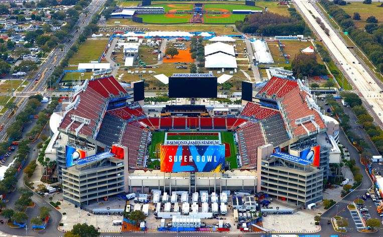 Het Raymond James Stadium in Tampa, Florida. Beeld Getty Images