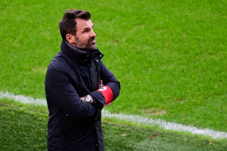 Ivan Leko tijdens zijn laatste match voor Antwerp, tegen Charleroi, eind december. Beeld Photo News