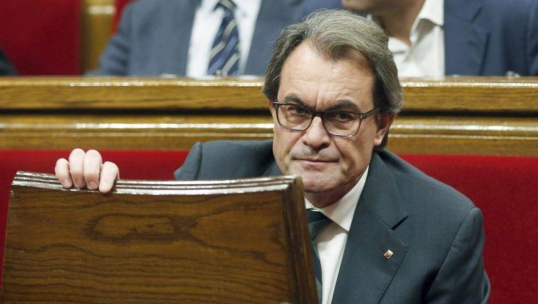 Artur Mas, voorlopig niet opnieuw de Catalaanse premier. Beeld EPA