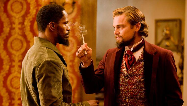 Jamie Foxx en Leonardo DiCaprio star in 'Django Unchained'. Beeld AP
