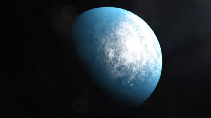 Une illustration artistique de la planète TOI 700 d