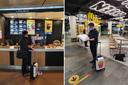 Nijkamp bij de laatste twee 'Macs' die hij nog te gaan had, allebei achter de douane op Schiphol.