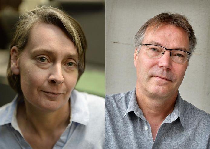 Journalisten LIlian ten Donkelaar en Michel Hasselerharm