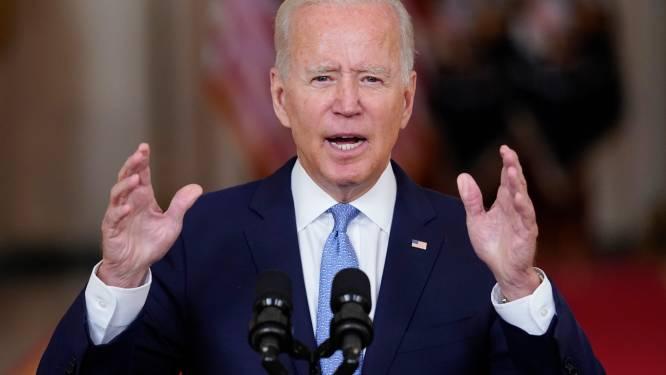 """Biden spreekt land toe: """"Evacuatie was een buitengewoon succes"""""""