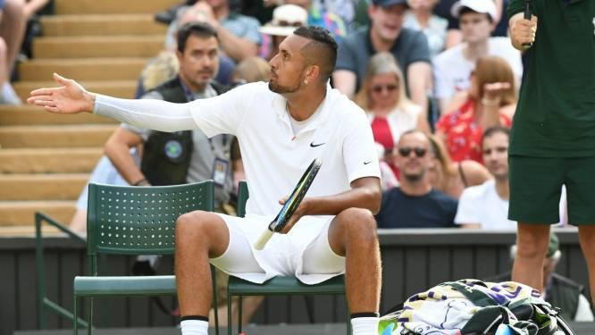 """Kyrgios, die na match opnieuw ging feesten: """"Ik mikte de bal recht op Nadal, ja. Waarom moet ik sorry zeggen? Hoeveel geld staat er op zijn rekening?"""""""