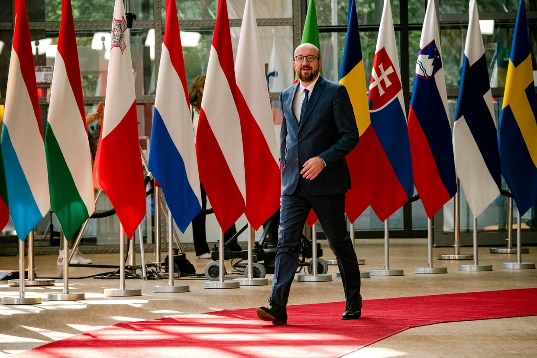 Charles Michel op een EU-top. Beeld Photo News
