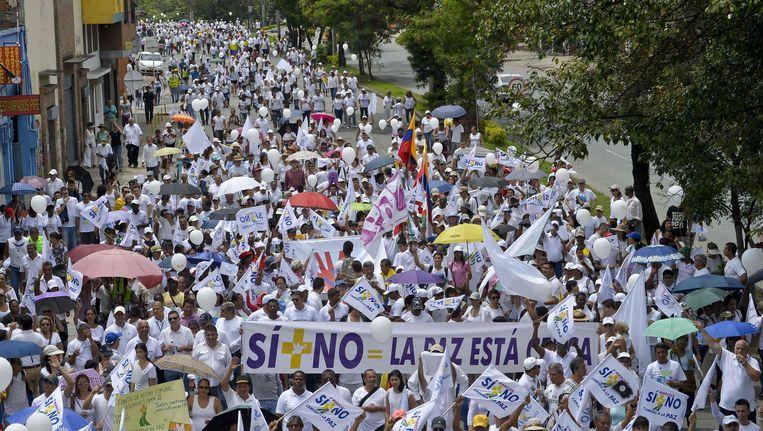 Vredesprotesten in Colombia eerder deze maand Beeld AFP