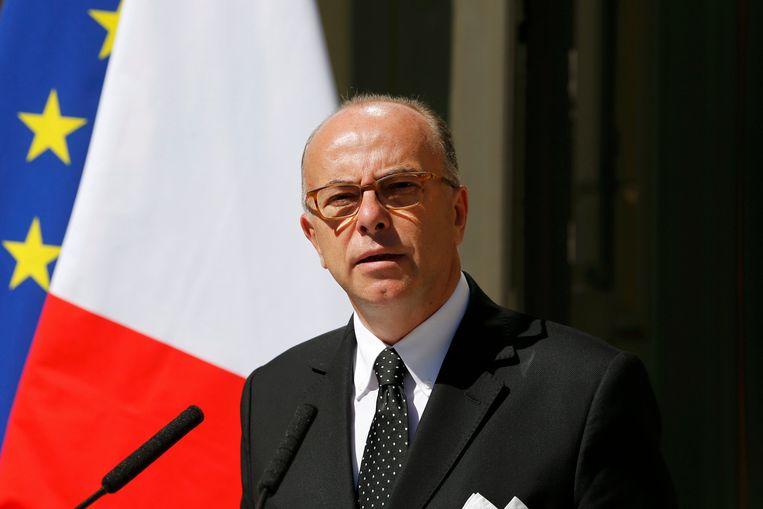 De Franse minister van Binnenlandse Zaken Bernard Cazeneuve (PS)