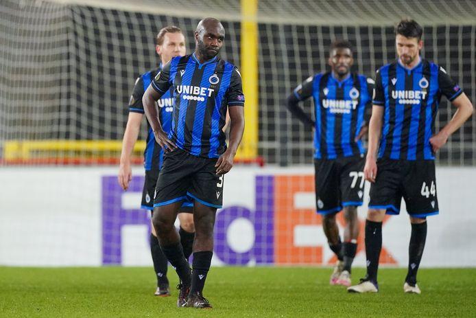 De ontgoocheling bij Club was groot na de nederlaag tegen Dinamo Kiev.